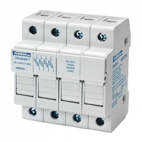 30A 4P 600V-ac~dc Ultrasafe Fuse Holder