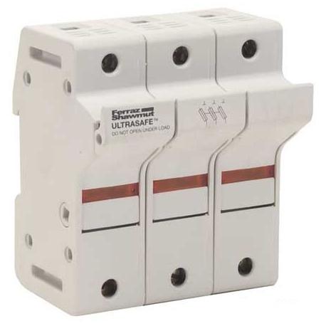 60A 3P 600V ac~dc Ultrasafe Class J Fuse Holder