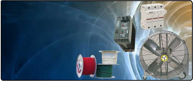 Electric Powered Devices Such as Fans, Pumps, Motors, Automation Controls and more..