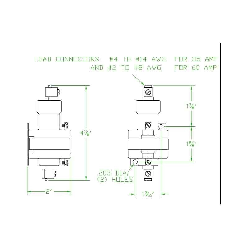 Mercury Contactor 1035A120AC, wm35a-120a | Mercury Contactor Wiring Diagram |  | MROcrib
