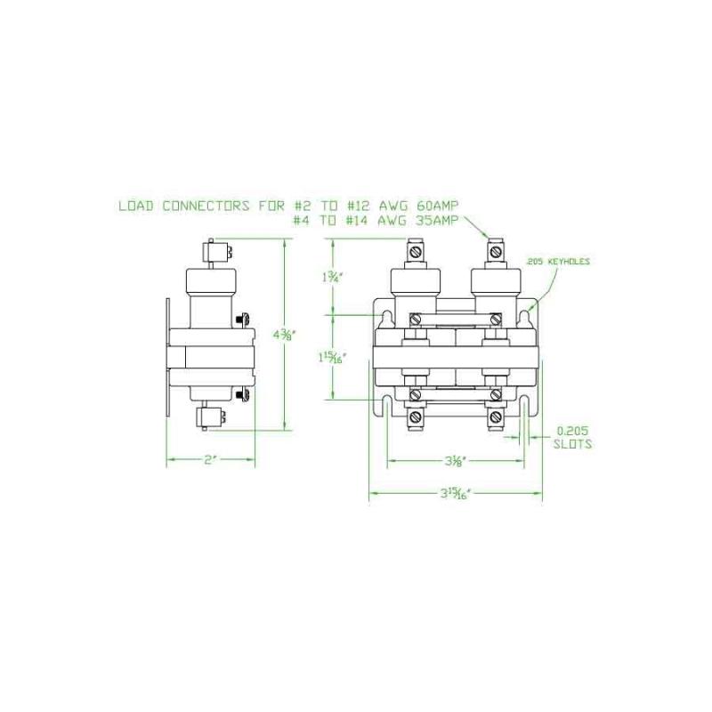 Mercury Contactor 2035A120AC, wm35aa-120a | Mercury Contactor Wiring Diagram |  | MROcrib