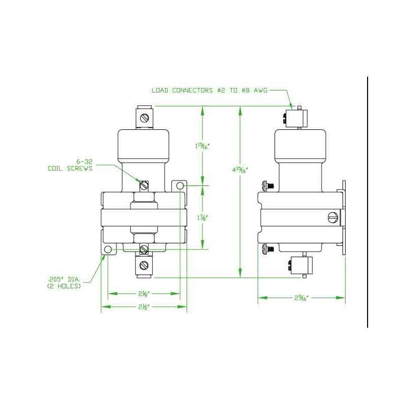MDI Mercury Contactor 100NO-24D Coil 24VDCContacts NO 100 Amps