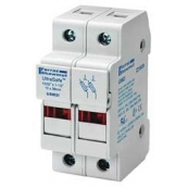 30A 2P 600V ac~dc Ultrasafe Midget Fuse Holder