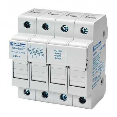 30A 4P 600V-ac~dc Ultrasafe Fuse Holder