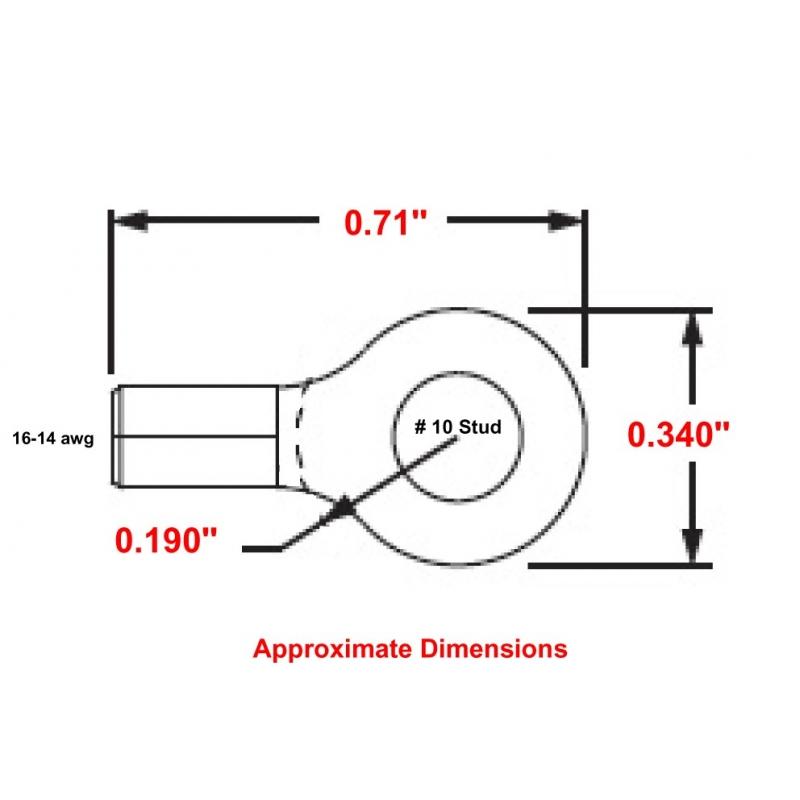 P14-10RHT6 High Temperature Ring Terminals MU14-10RHT
