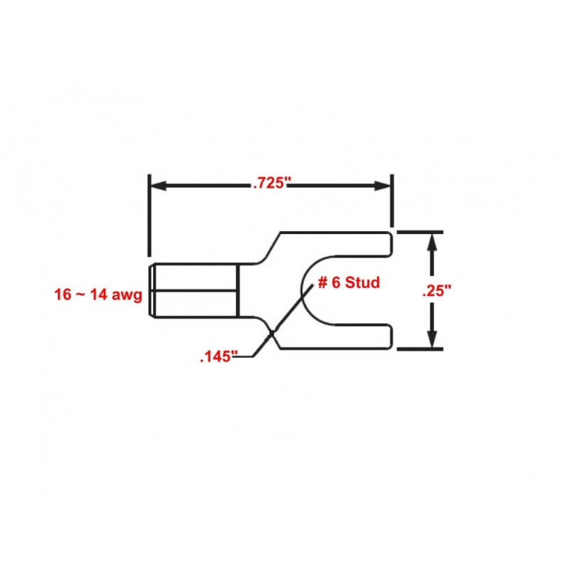 High Temperature Spade Terminals