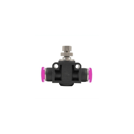 Push-In Air Fitting Flow Valve 1/4""