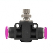 Push-In Air Fitting Flow Valve 3/8