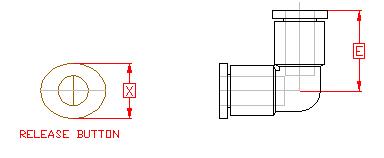 Elbow Union Dimensions